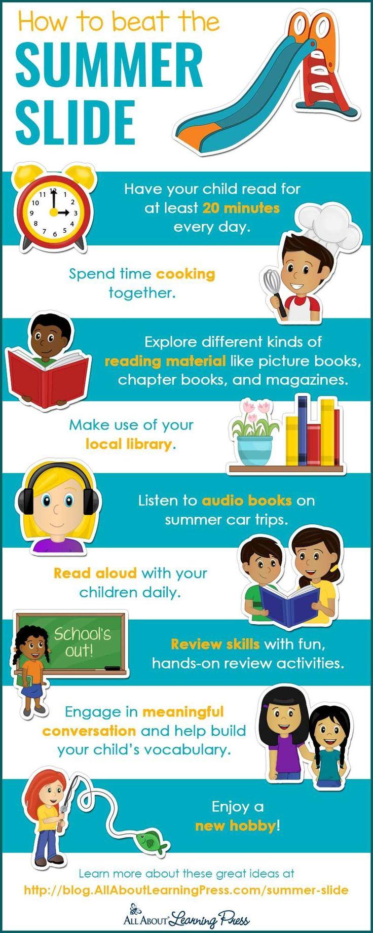 Stop Summer Slide infographic