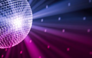 cropped disco ball